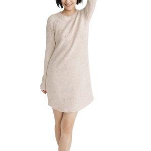 Madewell Curved Hem Wool Blend Sweater Dress XL